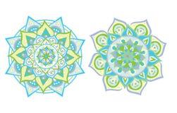 Vektor illustrerad mandala royaltyfri illustrationer