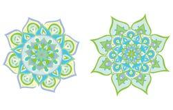Vektor illustrerad mandala stock illustrationer