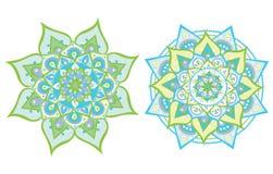 Vektor illustrerad mandala vektor illustrationer