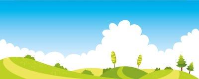 Vektor Ilustration av den färgrika naturplatsen stock illustrationer