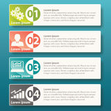 Vektor Infographic-Aufkleber-Schablonendesign Lizenzfreie Stockfotografie