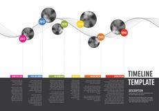 Vektor Infographic Företag milstolpeTimeline royaltyfri illustrationer
