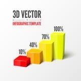 Vektor infographic oder Webdesignschablone vektor abbildung