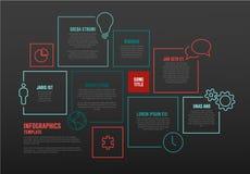 Vektor Infographic-Schablone mit Blöcken Stockbilder