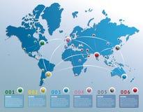 Vektor infographic von der Erde Stockbild