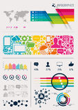 Vektor Infographics Stockfoto