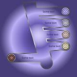 Vektor infographics Design als Baum mit Zahlen Stockfotografie