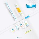 Vektor Infographics och beståndsdelar för rengöringsdukdesign, knappar och etiketter vektor illustrationer