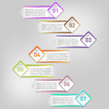 Vektor infographics Schablone Lizenzfreies Stockbild