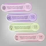 Vektor infographics Schablone Stockfoto