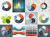 Vektor infographics Schablonen eingestellt Schablone für Lizenzfreie Stockbilder