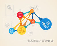 Vektor infographics Verbindung Lizenzfreie Stockbilder