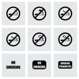 Vektor inget - röka symbolsuppsättningen Arkivfoto