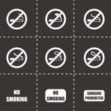 Vektor inget - röka symbolsuppsättningen Royaltyfri Foto