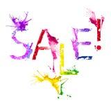 Vektor isolerad målarfärgfärgstänkinskrift Sale Royaltyfri Bild