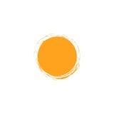 Vektor isolerad mall för sollogodesign Abstrakt begrepp pricker symbol Rund ovanlig form Arkivbilder