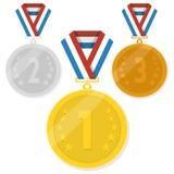Vektor isolerade medaljer Arkivfoton