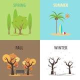 Vektor-Jahreszeiten stock abbildung