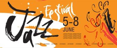 Vektor-Jazzfestival-Plakatschablone stockfoto