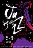Vektor-Jazzfestival-Plakatschablone vektor abbildung