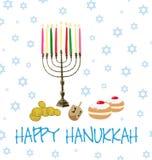 Vektor - judisk ferie av Chanukkah royaltyfri foto