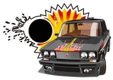 Vektor justiertes schwarzes Auto stock abbildung