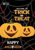 Vektor-Kürbis-Plakat-Halloween-Partei lizenzfreie abbildung