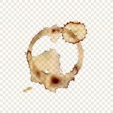 Vektor-Kaffeetasse-Druck auf transparentem Hintergrund, Getränkespritzen, Gestaltungselement lizenzfreie abbildung