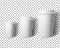 Vektor-Kaffeetasse eingestellt auf transparente PS-Art Backgroun Lizenzfreie Stockbilder