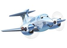 Vektor-Karikatur-Flugzeug Stockfotografie