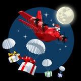 Vektor-Karikatur-Fracht-Flugzeug Stockbilder