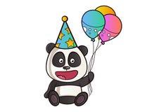 Vektor-Karikatur-Illustration des netten Pandas vektor abbildung