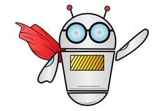 Vektor-Karikatur-Illustration des Roboters stockbild