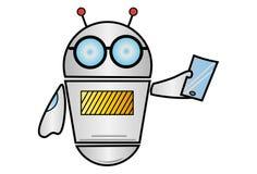 Vektor-Karikatur-Illustration des Roboters stockfotografie