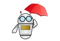 Vektor-Karikatur-Illustration des Roboters vektor abbildung