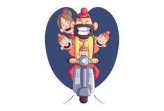 Vektor-Karikatur-Illustration von Punjabi Sardar stock abbildung