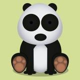 Vektor-Karikatur netter Panda Bear Sitting Isolated Stockfotografie