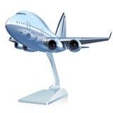 Vektor-Karikatur-Passagierflugzeug Stockfotografie