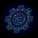 Vektor-Karkasse Mesh Gear mit hellen Stellen für Chistmas vektor abbildung