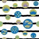 Vektor-Karnevals-Elemente streift nahtloses Wiederholungs-Muster stock abbildung