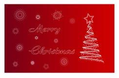 Vektor Karte der frohen Weihnachten Lizenzfreie Stockbilder