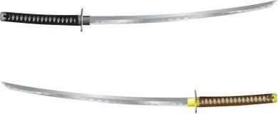 Vektor - Katana, samurajsvärd från Japan stock illustrationer