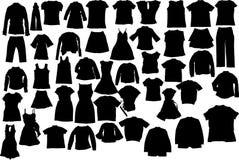 Vektor kleidet Schattenbilder Lizenzfreies Stockbild