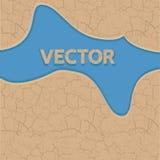 Vektor knäckt jordtextur Royaltyfri Bild