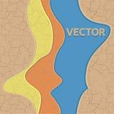 Vektor knäckt jordtextur Arkivbild