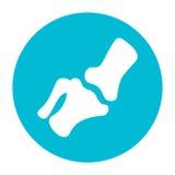 Vektor-Kniegelenk innerhalb einer Kreis-Ikone Vektor Abbildung