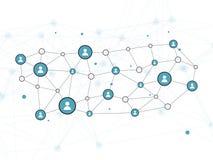 Vektor-Konzept- des Entwurfesillustration des Sozialen Netzes mit Benutzer-Ikone Stockbilder