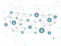 Vektor-Konzept- des Entwurfesillustration des Sozialen Netzes mit Benutzer-Ikone Lizenzfreie Stockbilder