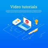 Vektor-Konzept für on-line-Bildung lizenzfreies stockfoto
