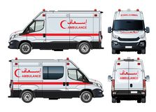 Vektor-Krankenwagen Van Lizenzfreies Stockfoto